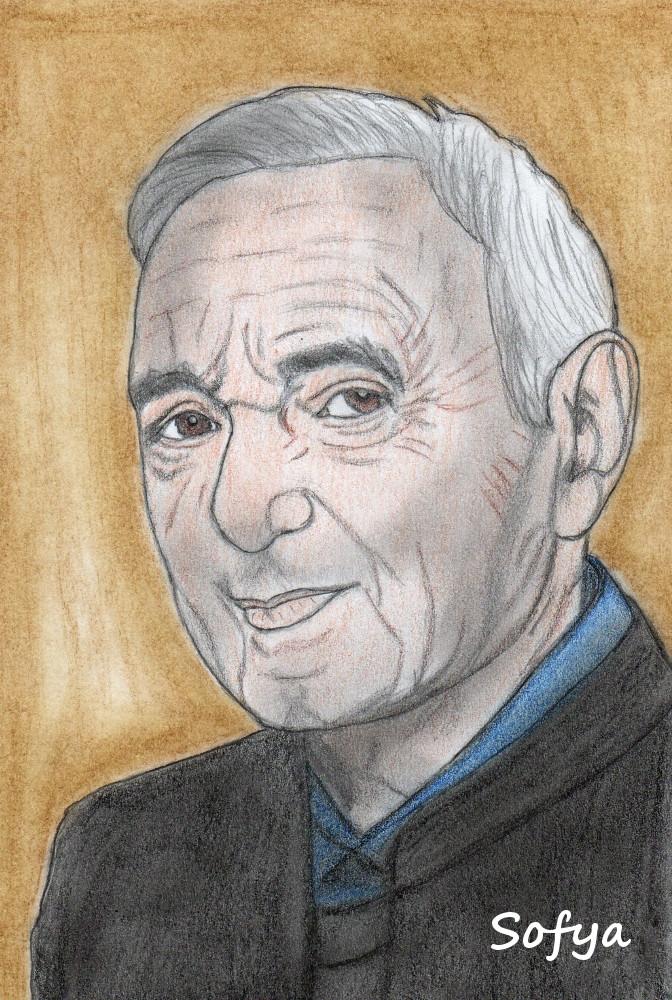 Charles Aznavour by Sofya